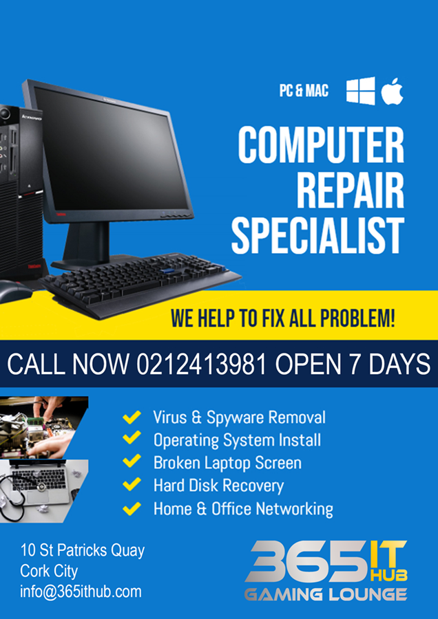 Best Computer Repair Services Cork City - 365ITHub Ireland